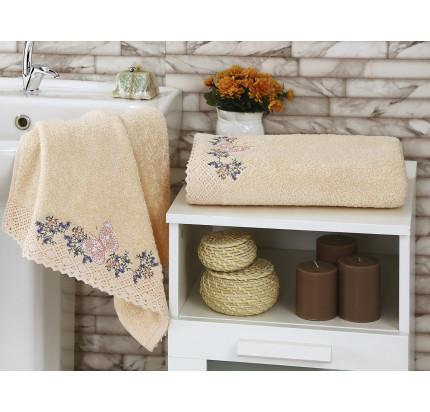 Набор полотенец Karna Lavore (абрикосовый, 2 предмета)