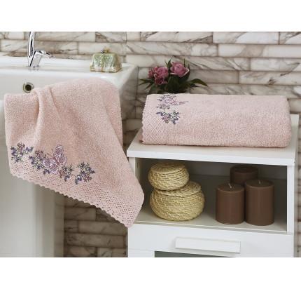 Набор полотенец Karna Lavore (пудра, 2 предмета)