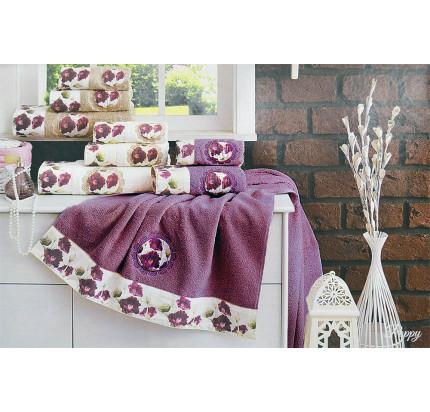 Набор полотенец La Villa Poppy (фиолетовый) 3 предмета