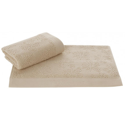 Полотенце Soft Cotton Leaf (бежевое)
