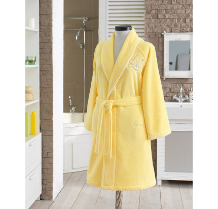 Халат женский Soft Cotton Lilium (желтый)