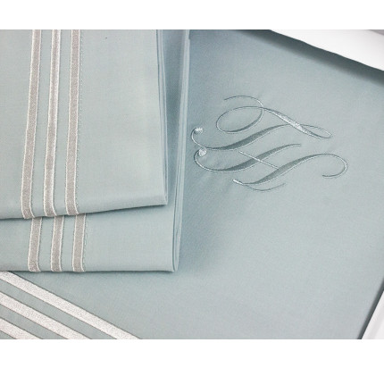 Постельное белье Tivolyo Home Line (бирюзовое) евро