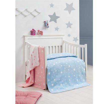 Детский хлопковый плед Arya Little Star (розовый) 100x120