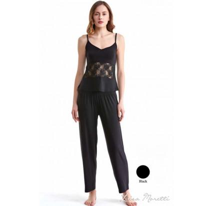 Пижама Luisa Moretti LMS-1132 (черная)
