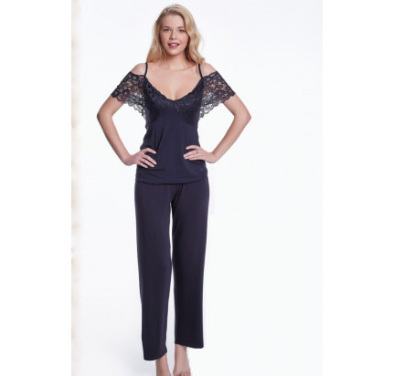 Пижама Luisa Moretti LMS-4036 (черная)