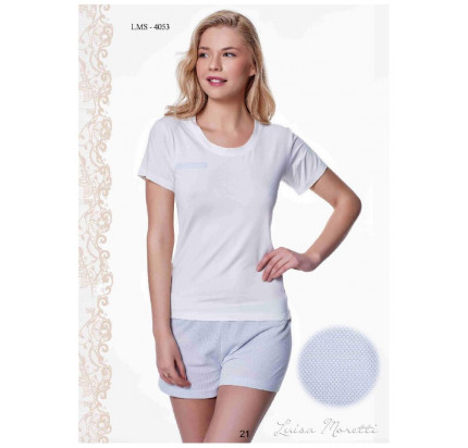 Пижама Luisa Moretti LMS-4053 (голубая)