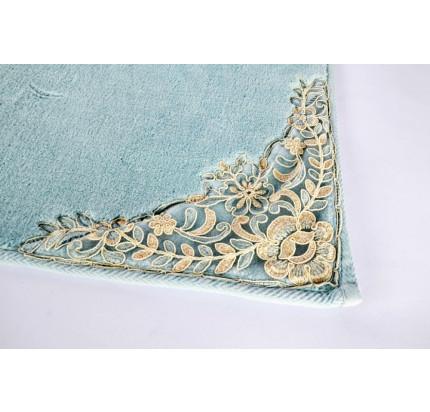 Набор ковриков Karven Lotus бирюзовый (50x60+60x100)