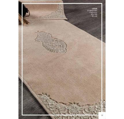 Набор ковриков Karven Lotus капучино (50x60+60x100)