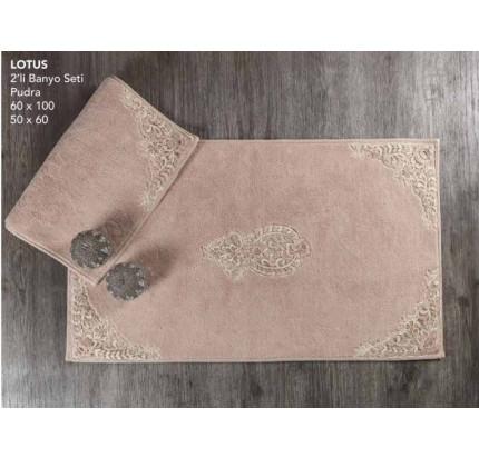 Набор ковриков Karven Lotus пудра (50x60+60x100)