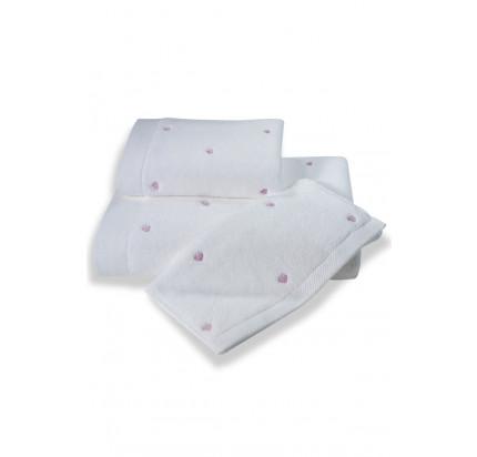 Полотенце Soft Cotton Love (белое с фиолетовым)
