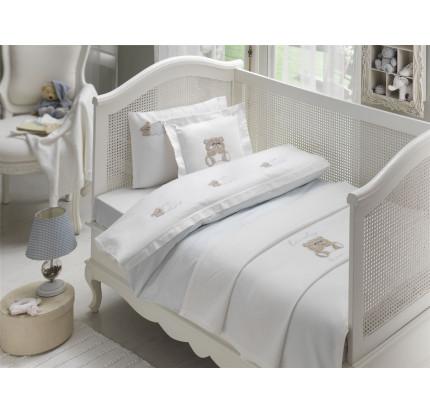 Набор в кроватку с покрывалом Tivolyo Lovely (голубой)