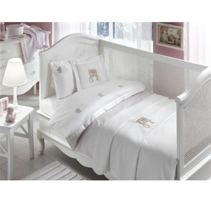 Набор в кроватку с покрывалом Tivolyo Lovely (розовый)