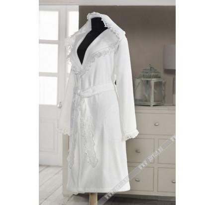 Халат женский Soft Cotton Luna (белый)