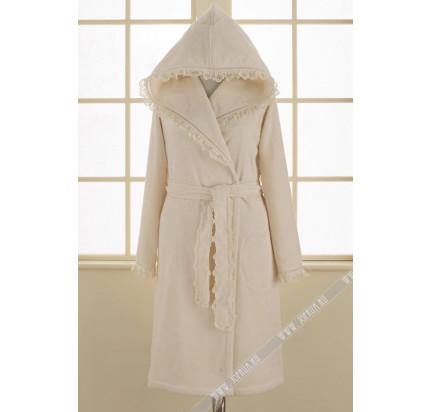 Халат женский Soft Cotton Luna (кремовый)