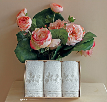 Салфетки Soft Cotton Luna (белый, 3 предмета) 32x50