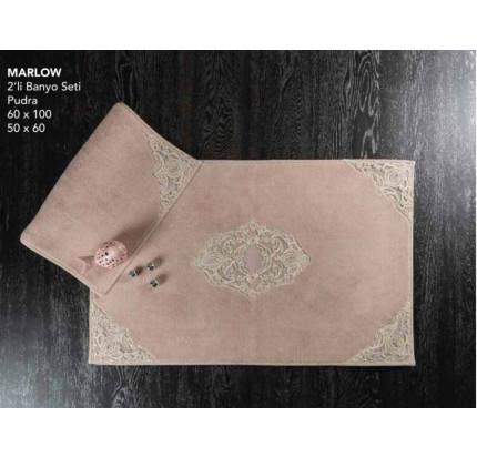 Набор ковриков Karven Marlow пудра (50x60+60x100)