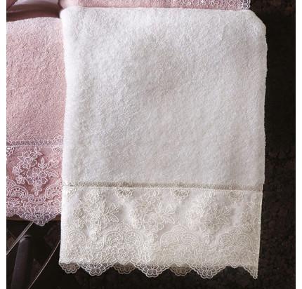Набор полотенец Tivolyo Minosa (кремовый) 2 предмета