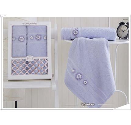 Набор полотенец Karna Elegance (светло-лавандовый, 2 предмета)