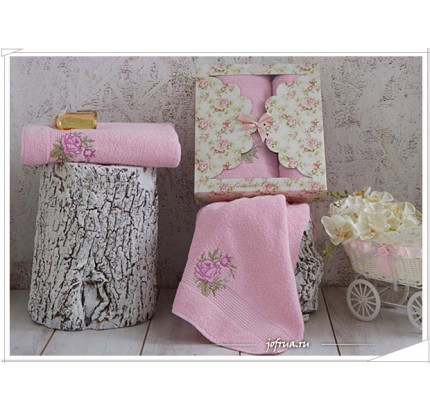 Набор полотенец Karna Romance (розовый, 2 предмета)
