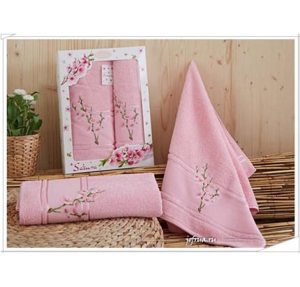 Набор полотенец Karna Sakura (розовый, 2 предмета)