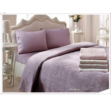 Набор с покрывалом Tivolyo Arredo (фиолетовый) евро
