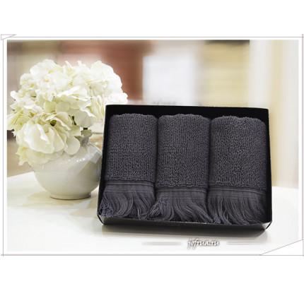 Набор салфеток Soft Cotton Fringe антрацит (3 предмета)