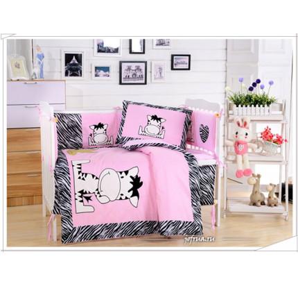 Набор постельного белья в детскую кроватку DK-10 (7 предметов)