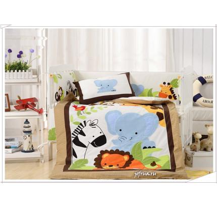 Набор постельного белья в детскую кроватку DK-25 (7 предметов)