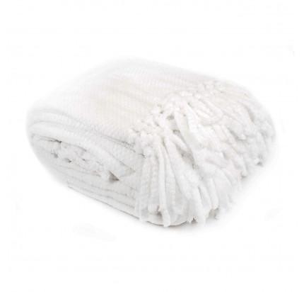 Мягкий флисовый плед Tivolyo Nappa Favo Soft (белый)