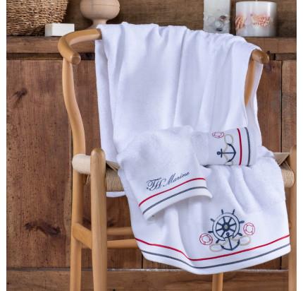 Полотенце Tivolyo Home Navy (белый)