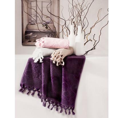 Набор полотенец Tivolyo Nervures (фиолетовый) 2 предмета