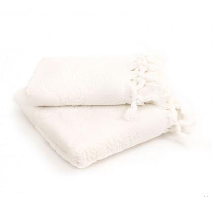 Набор полотенец Tivolyo Nervures (кремовый) 2 предмета