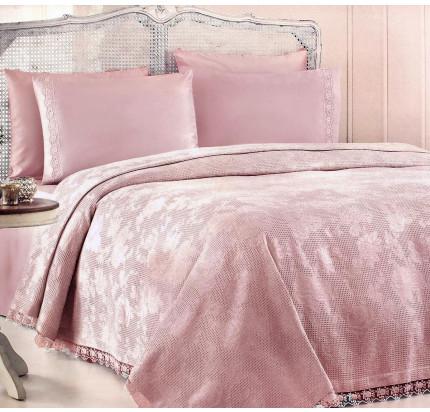 Набор с покрывалом Gelin Home Neslisah Inkbahar (грязно-розовый) евро