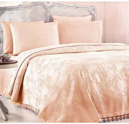Набор с покрывалом Gelin Home Neslisah Inkbahar (персиковый) евро