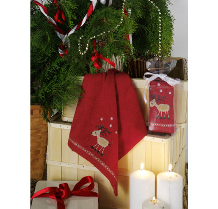 Новогоднее полотенце-салфетка Karna Noel V4 30x50