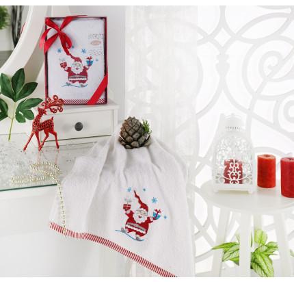 Новогоднее полотенце Karna Noel V1 50x90