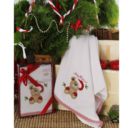 Новогоднее полотенце Karna Noel V2 50x90
