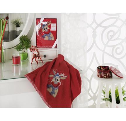 Новогоднее полотенце Karna Noel V3 50x90
