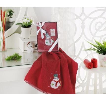Новогоднее полотенце Karna Noel V4 50x90