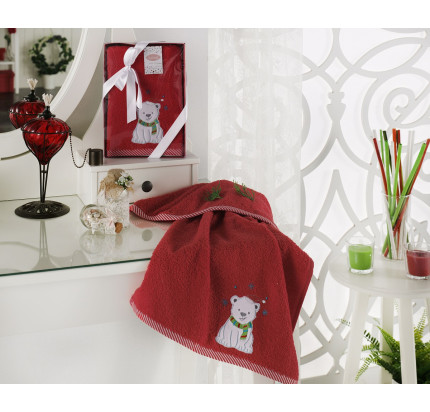 Новогоднее полотенце Karna Noel V5 50x90