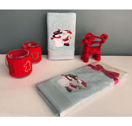 Новогоднее полотенце-салфетка La Villa Noel Baba (голубой)