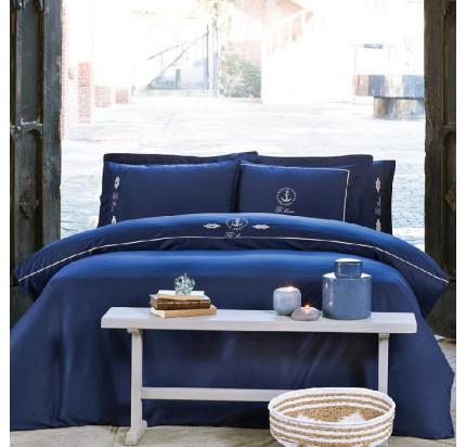 Постельное белье Tivolyo Home Ancora (темно-синее)