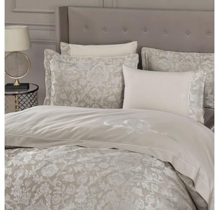 Tivolyo Home Fortuny (бежевый) комплект постельного белья евро