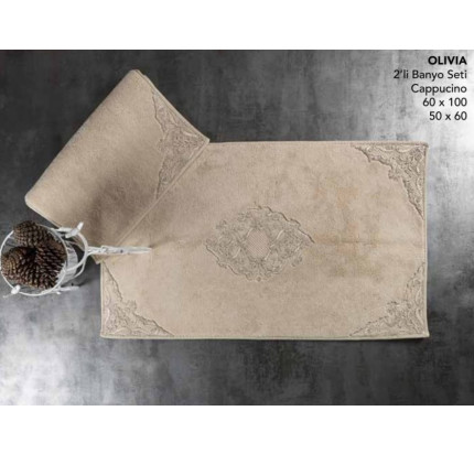 Набор ковриков Karven Olivia капучино (50x60+60x100)