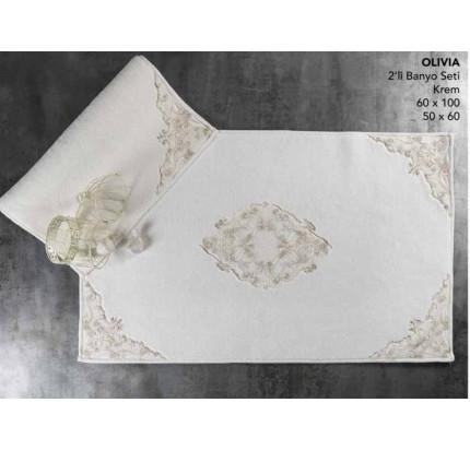 Набор ковриков Karven Olivia кремовый (50x60+60x100)