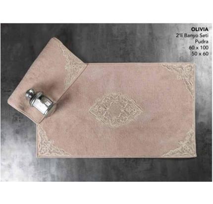 Набор ковриков Karven Olivia пудра (50x60+60x100)