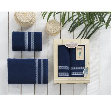 Набор полотенец Karna Petek (синий, 2 предмета)