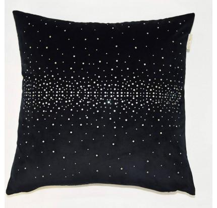 Декоративная наволочка Sofi de Marko Петуния (черная) 45x45