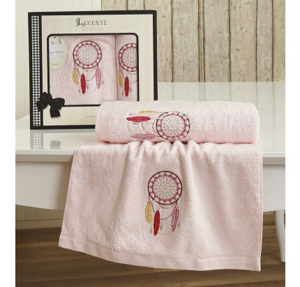 Набор полотенец Lucente Piuma (розовый, 2 предмета)