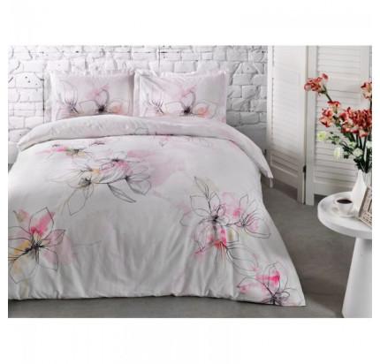 Постельное белье TAC сатин Jude V01-розовый